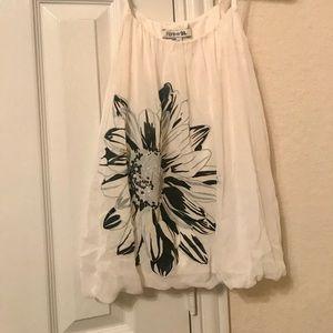 Forever 21 White Hibiscus 🌺 Cami